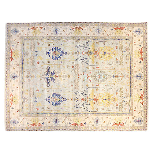 10'x14' Michelle Hand-Knotted Rug, Sky