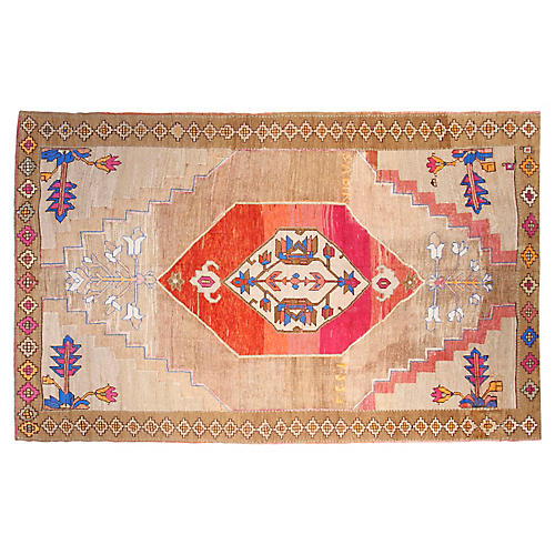 "7'5""x11'9"" Turkish Rug, Tan/Multi"