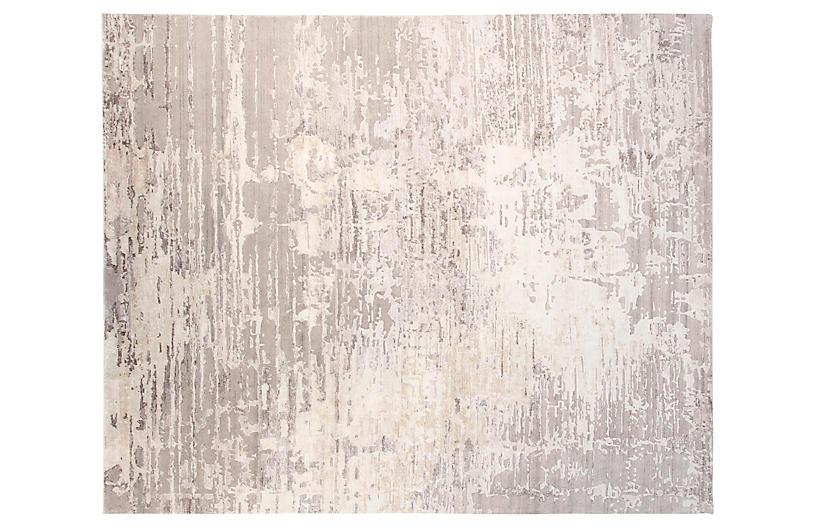 8'x10' Velvet Hand-Knotted Rug, Gray