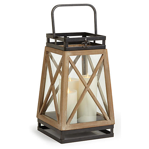 "16"" Catalina Lantern, Natural"