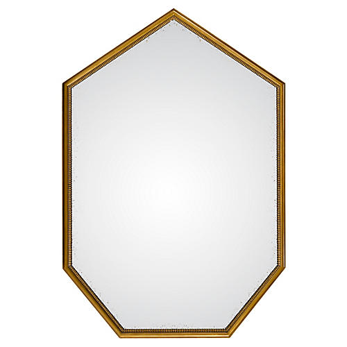 Townsend Oversize Mirror, Antiqued Gold