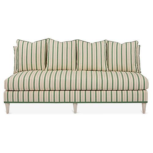 Pacific Heights Sofa, Green Stripe