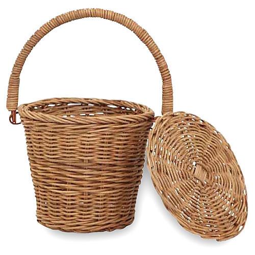 Kids' Apple Basket, Natural