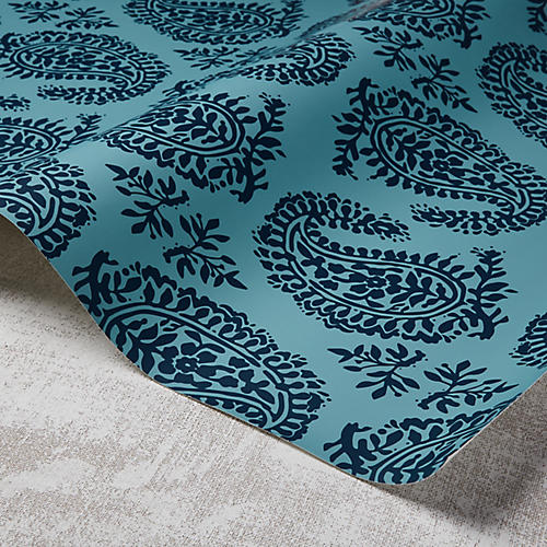 Paisley Wallpaper, Harbour/Powdery Navy