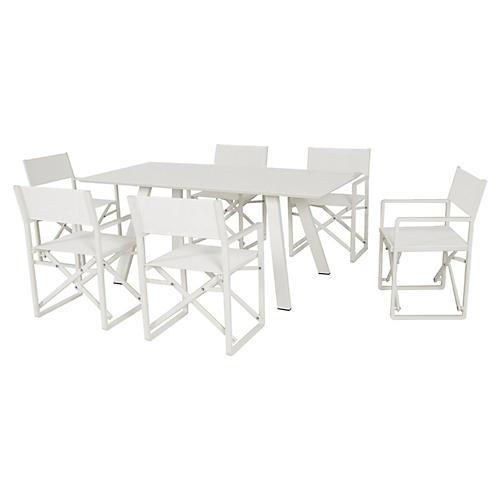 Morales 7-Pc Dining Set, White