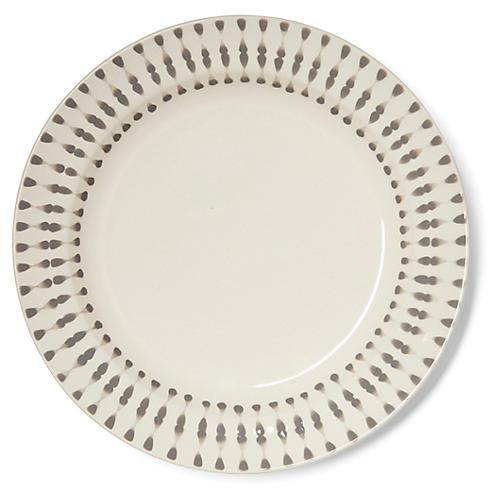 S/4 Cua Dai Salad Plates, Gray/Ivory