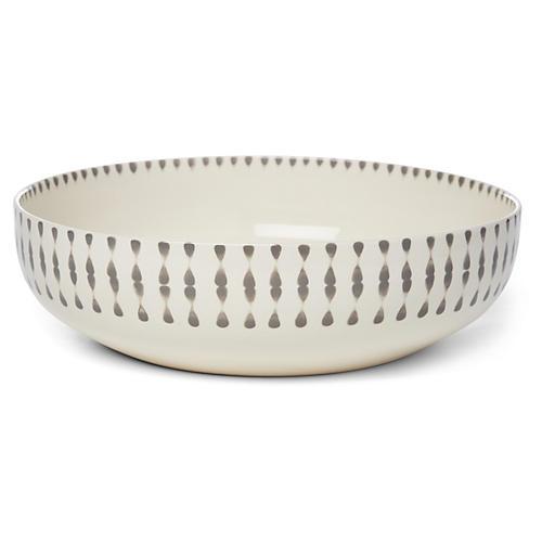 Cua Dai Serving Bowl, Gray/Ivory