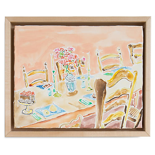 Kate Lewis, Dinner Table with Desserts