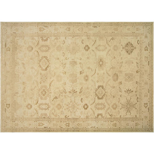 """10'x13'8"""" Sultanabad Rug, Ivory/Brown"""