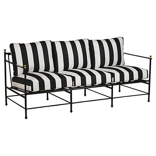 Frances Sofa, Black/White