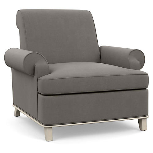 Bunny Club Chair, Gray Linen