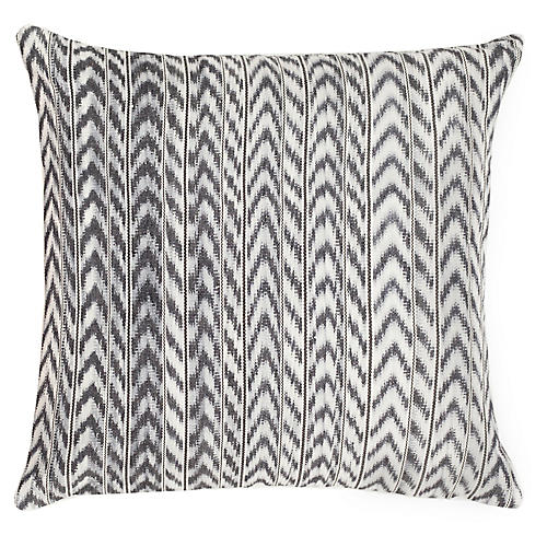 Toto 20x20 Pillow, Gray/White