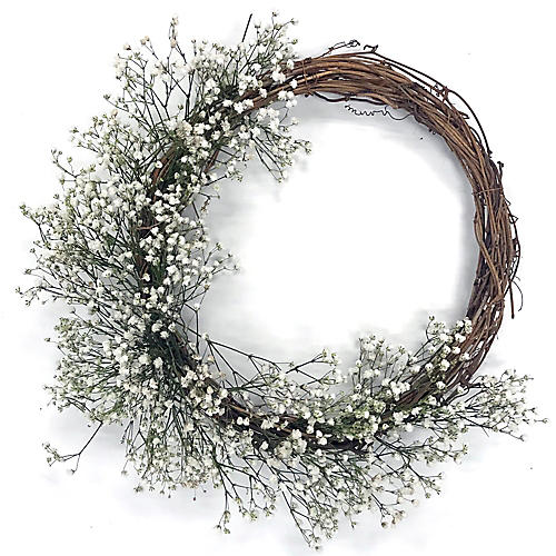 "18"" Misty Wreath, Preserved"