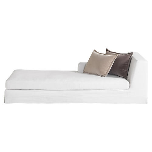 Jackson Chaise, Ivory Linen