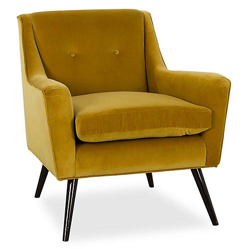 Marlow Accent Chair, Gold
