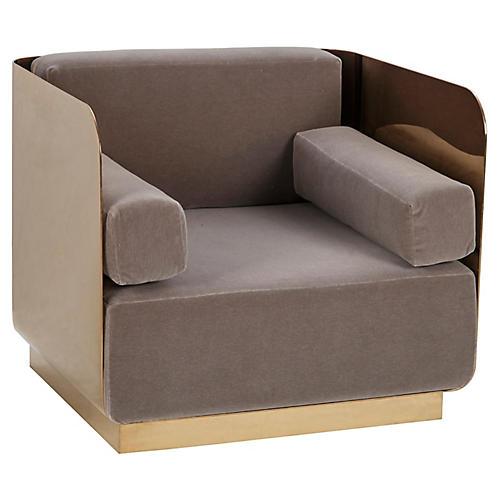 Vinci Club Chair, Brown