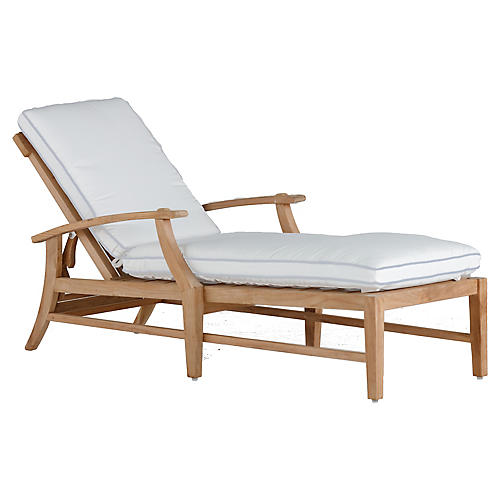 Croquet Chaise, White