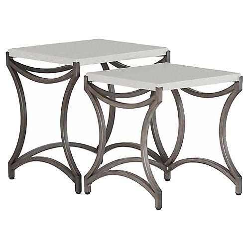 Asst. of 2 Caroline Nesting Tables, White