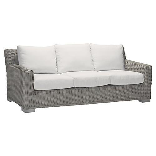 Rustic Oyster Sofa, White