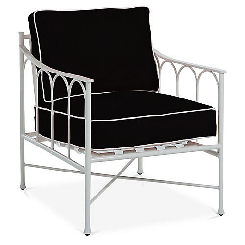 Celia Lounge Chair, Black/White