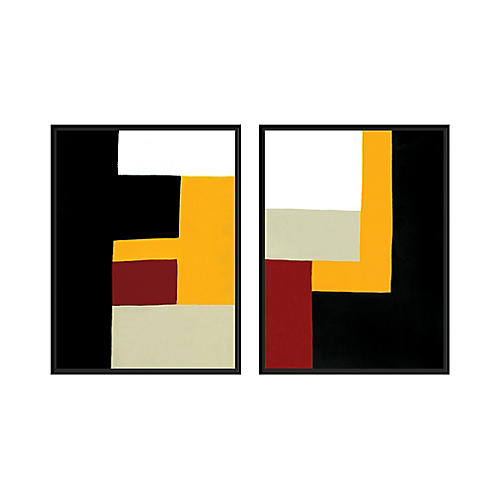 Ilana Greenberg, Building Blocks Diptych