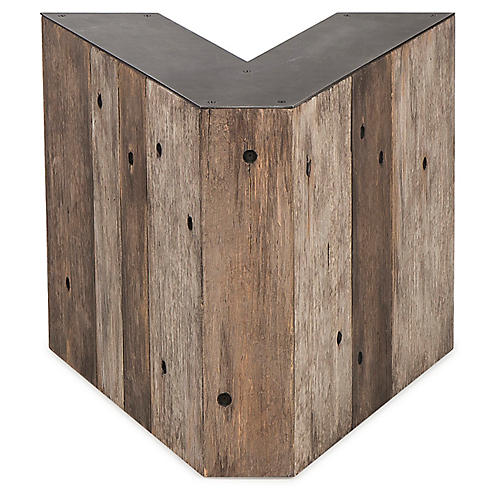 Alphabet V Side Table, Gunmetal