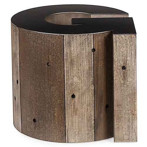 Alphabet G Side Table, Gunmetal