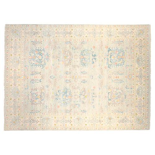 9'x12' Sari Tania Rug, Blue/Silver