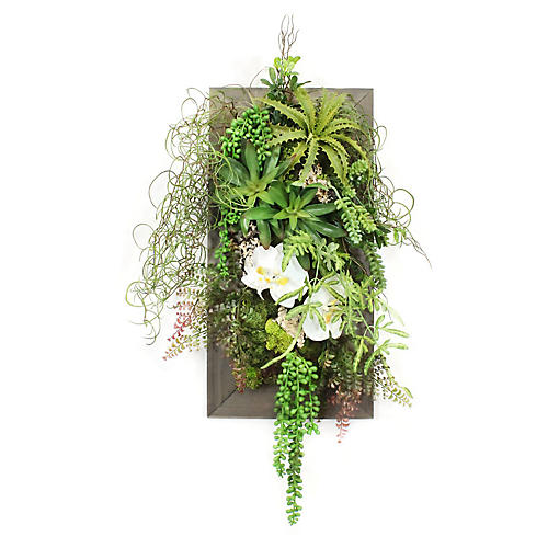 """28"""" Mixed Greens Wall Piece, Faux"""