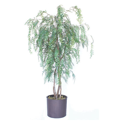 "90"" Pepper Tree w/ Planter, Faux"