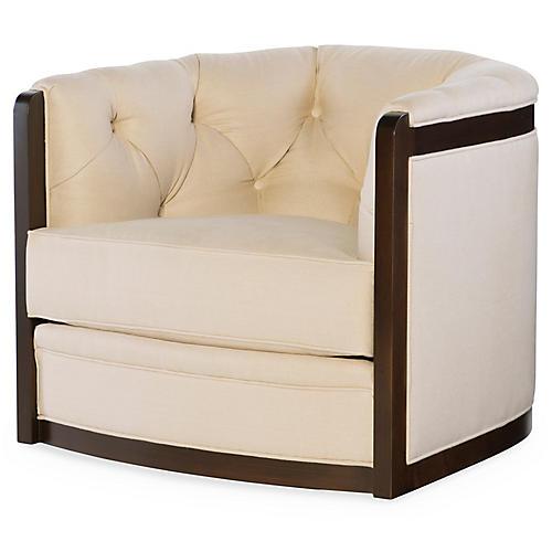 Everett Swivel Chair, Cream