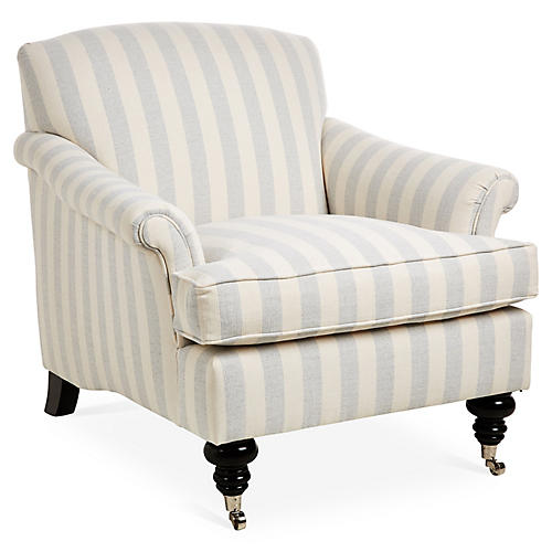 Joplin Club Chair, Light Blue