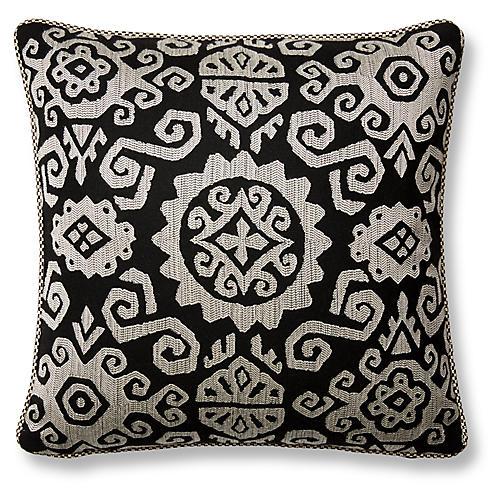 Tribal 20x20 Pillow, Black Sunbrella