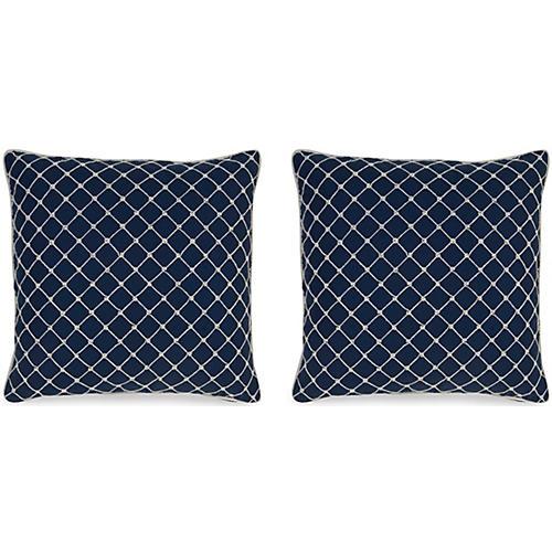 S/2 Elaine Pillows, Navy