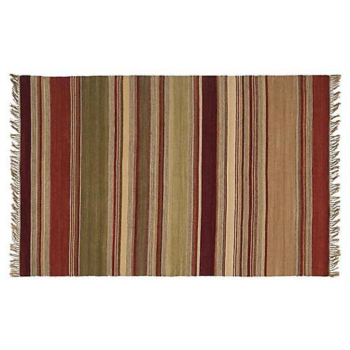 3'x5' Romanie Flat-Weave Rug, Gold
