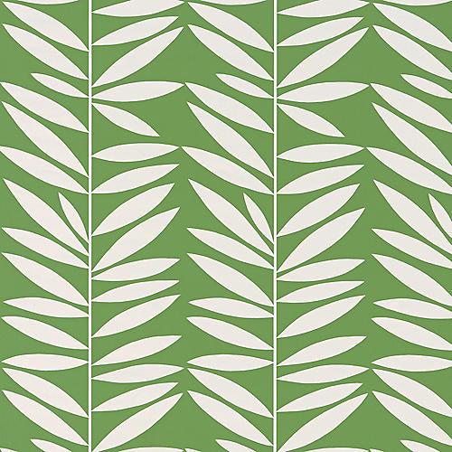 Leaf Stripe Wallpaper, Leaf