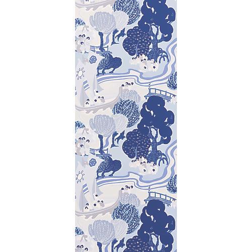 Pearl River Wallpaper, Blues