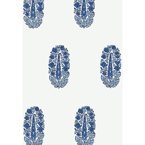 Askandra Flower Wallpaper, Delft