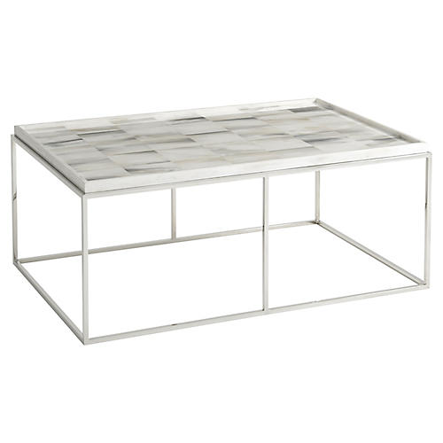 Quadrilateral Coffee Table, Ivory