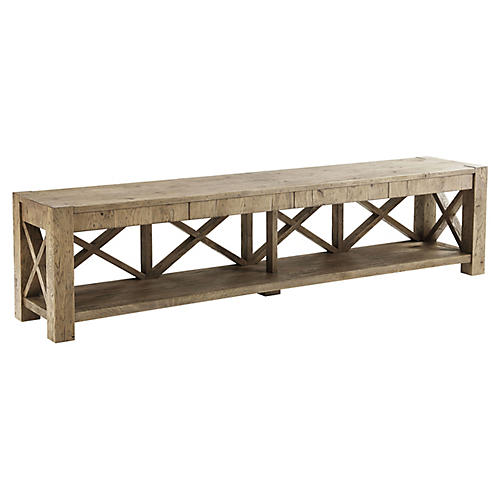 Stafford Media Console, Echo Oak
