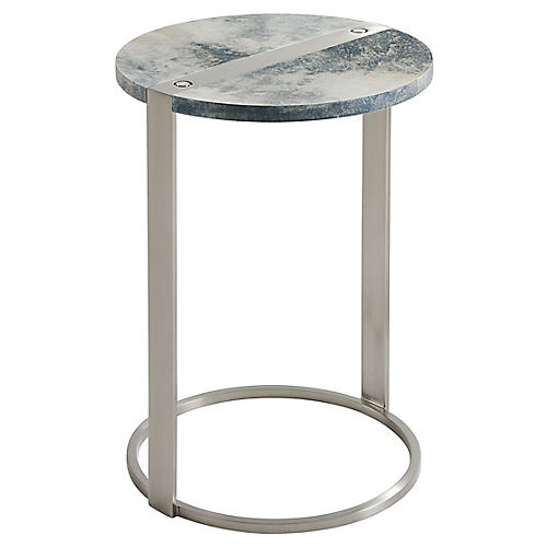 Orb Side Table, Graphite Parchment