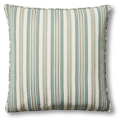 Layla 22x22 Pillow, Blue/Oyster