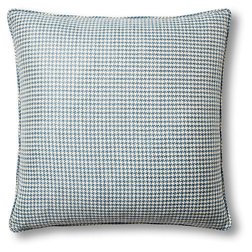 Lagoon 22x22 Pillow, Blue/Ivory