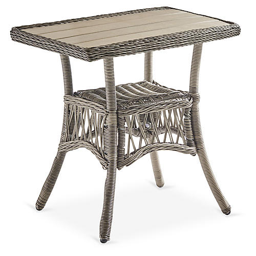 Westbay Side Table, Slate Gray