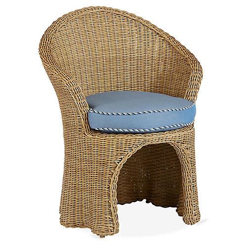 Crespi Armchair, Blue/Navy Sunbrella