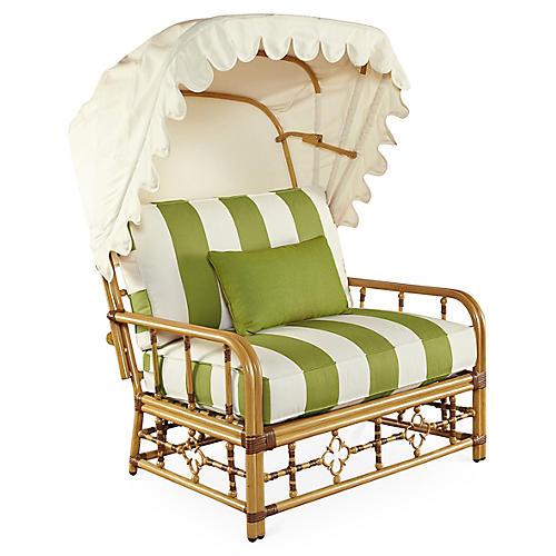 Mimi Cuddle Chair & Canopy, Cilantro Sunbrella