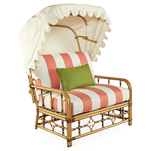 MImi Cuddle Chair & Canopy, Coral Sunbrella