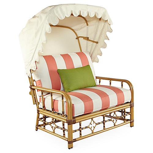 MImi Cuddle Chair & Canopy, Coral Sunbrella