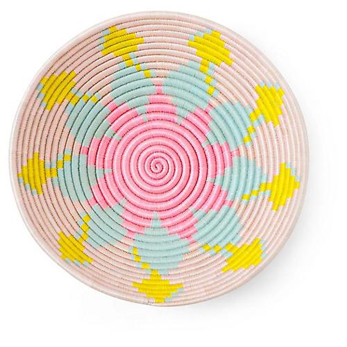 """12"""" Lina Plateau Basket, Pink/Multi"""