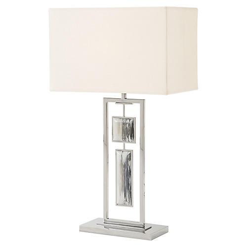 Sway II Table Lamp, Polished Steel